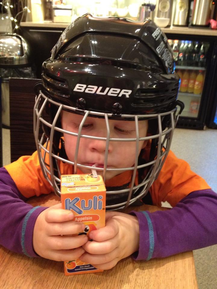 Klar for hockeytrening
