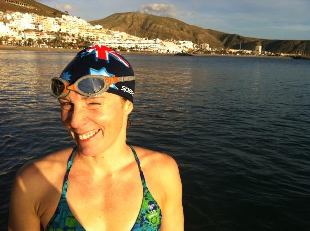 Ferdig med 1500 meter ved Playa Las Vistas