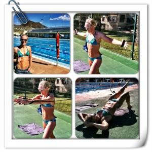 Stabilitet før svømmetrening