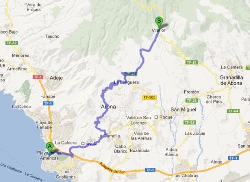Dagens sykkeltur til Vilaflor