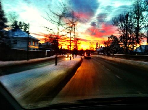 Med denne utsikten gikk fredagens to morgenøkter lett. Hvem vil vel ikke trene med en slik himmel over seg?