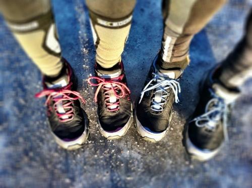 Kristian og jeg har kjøpt oss Icebug sko med pigger. Helt gull å løpe i på glatte vinterveier.