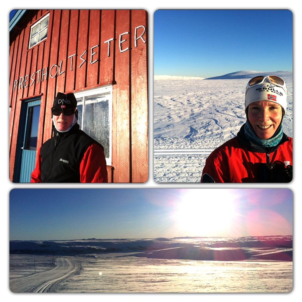 For en dag å gå på ski! 25 minus gjorde det helt nødvendig med dobbelt lag ull, men når varmen først kom innenfra var det bare å nyte utsikten og føret. Godt å se at mange hadde tatt seg turen ut i det fine været, selv om det ser nokså ensomt ut akkurat her.