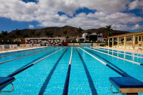 Her svømmer vi hver dag. Flott basseng med god temperatur og paceklokke i hver ende (det skulle bare mangle). Reiser du hit på egenhånd kan du booke tid i sportsbookingen. Det koster rundt 3 € per time.