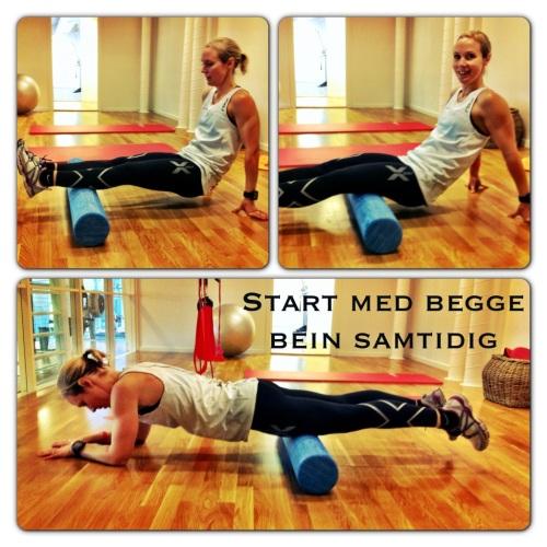 Disse øvelsene varmer opp muskulaturen. Er du nybegynner på foamroll kan dette være nok i starten.