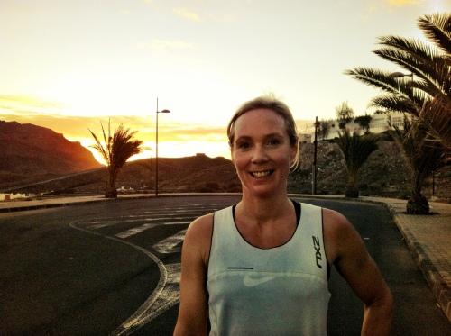 Hvem kan vel si nei til å løpe en morgentur i soloppgangen? Ikke jeg i hvert fall!