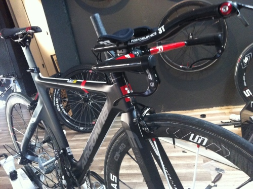 Min nye sykkel! Fortsatt noen innstillinger som skal gjøres, men jeg satser på at denne blir bra allerede i Barcelona 19.mai,