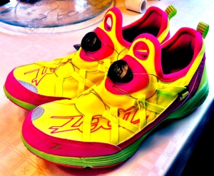 Nye fargerike Zoot-sko skal testes i tiden som kommer. Dette er Ultra Race 4.0 med Boa-snøring. Liver opp i skohylla!