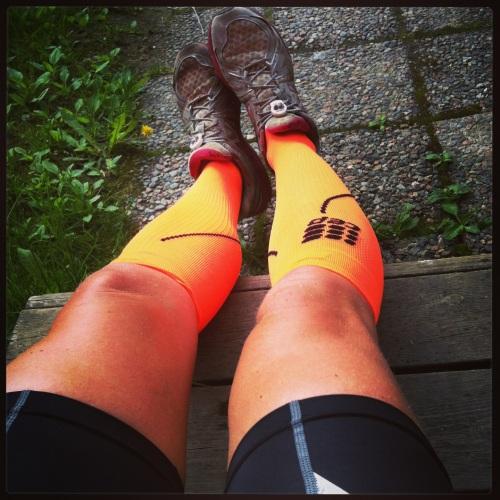 CEP sine Progressive Run Socks har jeg brukt to ganger til nå. Rapporten kommer senere, men fargen er i alle fall übercool :-)