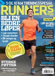 Siste utgave av Runners World Norge ser slik ut. Mange gode tips for deg som ønsker å bli en bedre løper, eller få mer inspirasjon og motivasjon i treningen din.