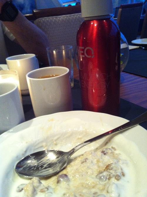 Beskjeden frokost før start.