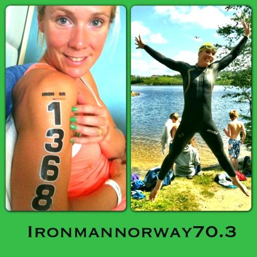 Så full av energi var jeg før start under Ironman 70.3 Haugesund i fjor. I år skal jeg være med som heiagjeng!
