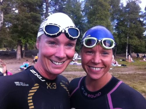 Sara Nordenstam Klar for sin første open water trening.