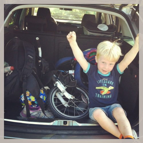 Magnus er klar for å kjøre til Kongsberg.