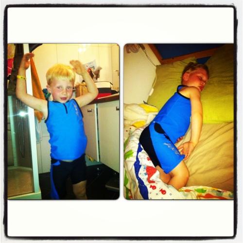Magnus er klar for barnetriatlon på Kongsberg på søndag. Kommer du?