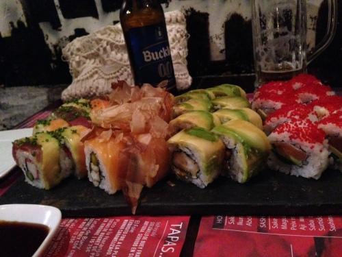 Francesc Godoy tipset oss om Double Zero 00. Supert sushi sted i nærheten av Ciutadella. Hadde aldri funnet det uten ham, lekkert!