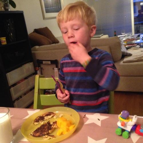 Coltings bananpannekaker ble populære også hos familiens yngste.