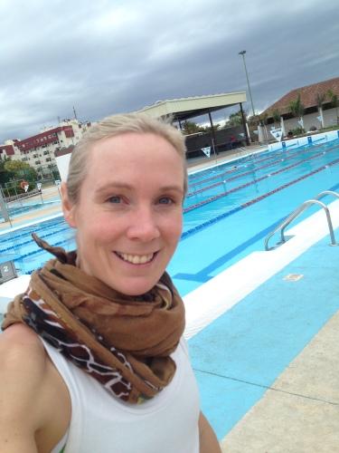 Kari på svømmetrening Gran Canaria