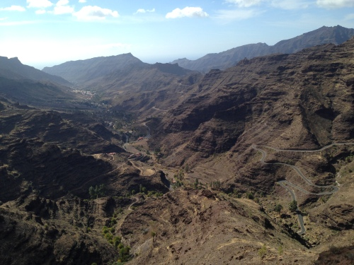 Svingete sykkelveier på Gran Canaria