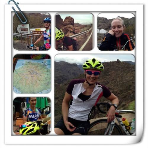 Her er et lite utklipp bilder fra den lengste turen vår, til  Mogan over mot Ayacata, ned til Santa Lucia og El Doctoral før Maspalomas.
