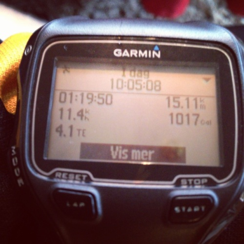 Slett ikke verst med 15 rolige kilometer på morgenen. Snittpulsen var faktisk sone 1 hele veien, det var jeg godt fornøyd med!