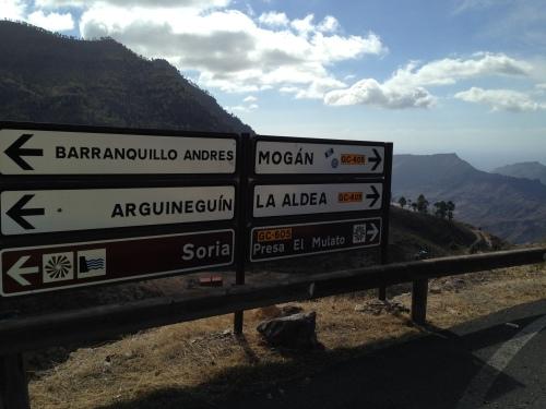 Avkjøringen til Soria hvor vi fortsatte videre oppover, istedenfor å svinge ned til den gode juicen.