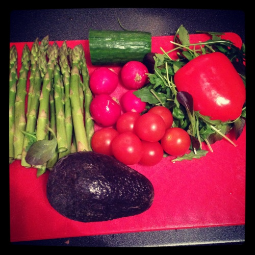 Grønnsakene er klare til dyst.