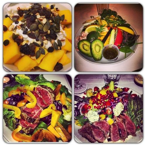 Ser dette godt ut? Dette er noe av det Jonas Colting legger ut på Instagram av hva han spiser. Unntatt bildet øverst til venstre, det var nemlig min lunsj!
