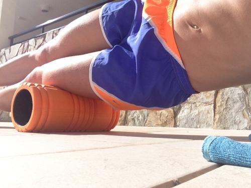 Min nye foamroll har vært en god venn på leir. Uten den hadde jeg ikke klart så mye trening!