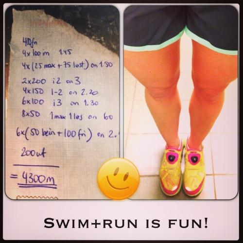 Swimrun trening igang.