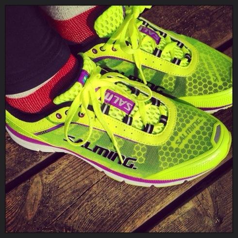 Jeg har fått nye sko fra Salming. Freshe farger og god passform.