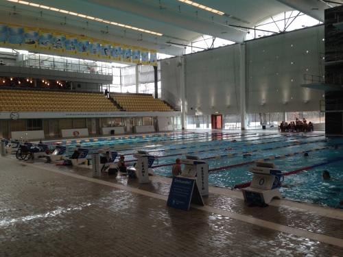 Vi måtte jo en tur innom Eriksdalsbadet. Et raskt basseng absolutt, skjønner hvorfor Lisa Norden trives her!