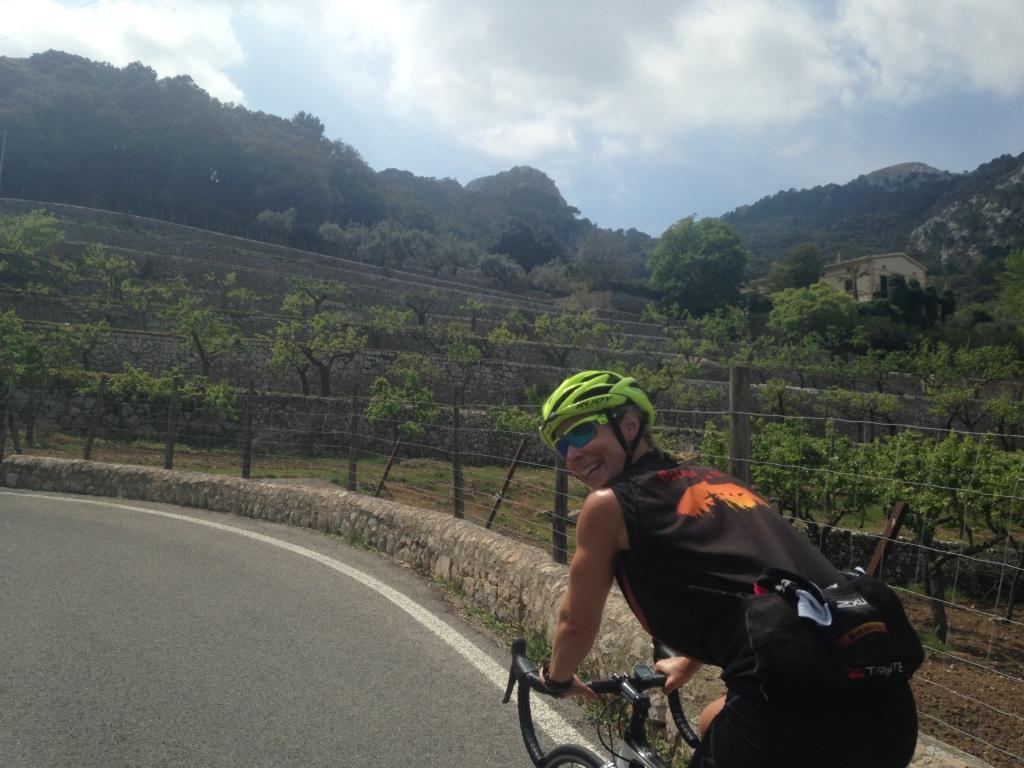 Mallorca er bare vakkert. Flott sted å sykle! Foto: Vibeke Nørstebø.