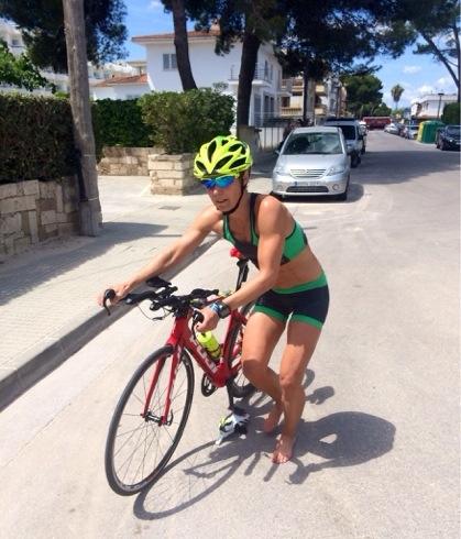 Overgang fra sykkel til løp
