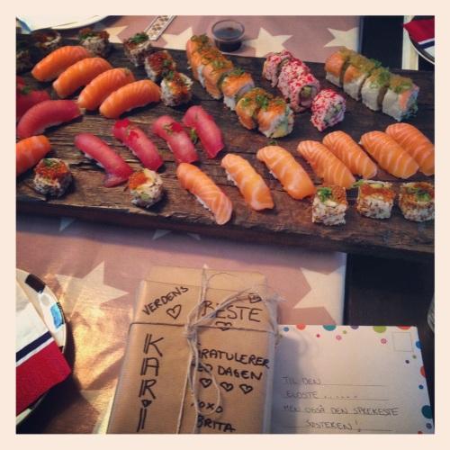 Sushi fra Japoniis på Røa blir aldri feil.