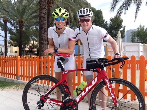 Kari og Kristian klare for sykkeltur Alcudia