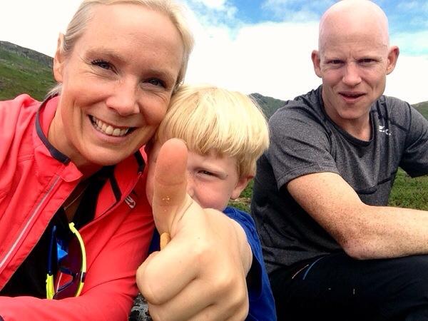 Familien Lingsom til fjells