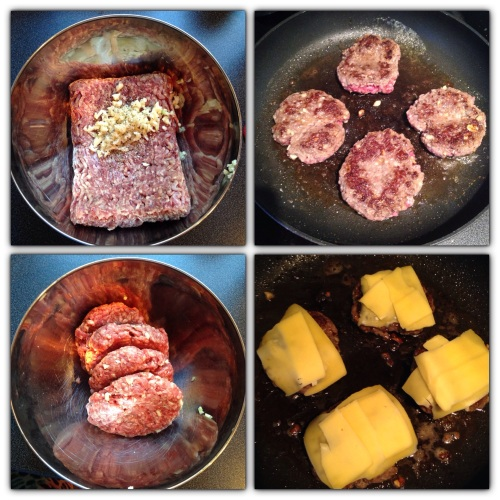 Det er enkelt å lage hamburgere! Fort går det også.