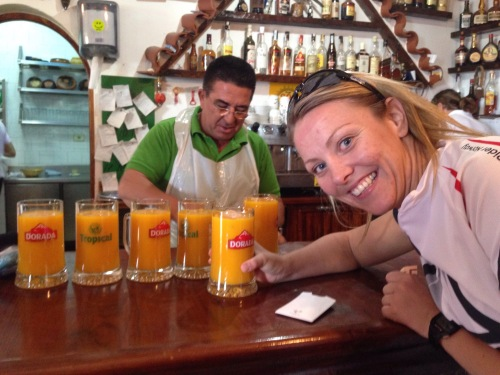 Juicen koster 4 euro, men er vel verd strevet (og prisen!).
