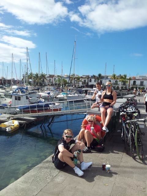 Her nyter vi sola i Puerto Mogan, en relativt flat tur til Gran Canaria å være. Foto: Siri Langseth.