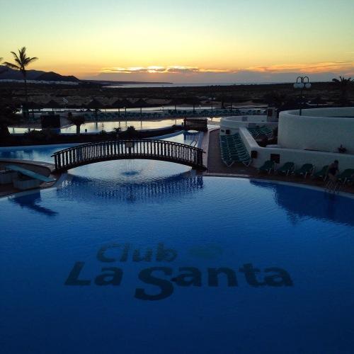 Solnedgang ved La Santa