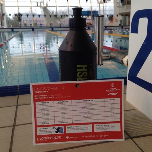 Fiks ferdig svømmeprogram får du ved Drammensbadet. Kjekt å ha når kreativiteten (eller kunnskapen) svikter. Det holdt med 2200m for meg!