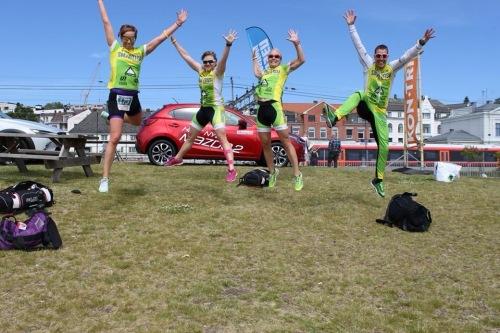 Og så glade blir vi fordi vi alle er vinnere i triatlon!