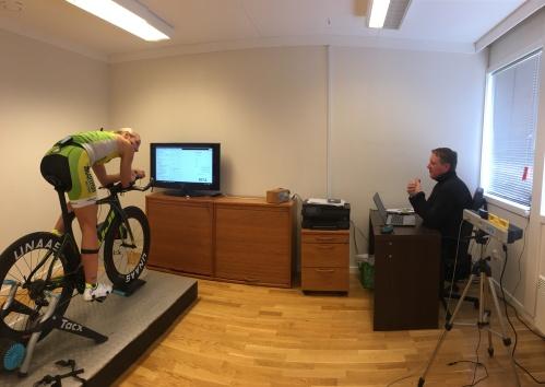 Hos Bergen Bike Fit Studio gjøres sykkeltilpasningen med Retül-systemet.