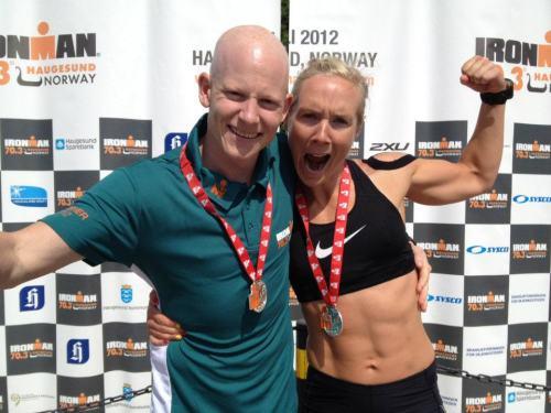 Jeg debuterte på halvdistanse under Ironman 70.3 i Haugesund i 2012. Knuste Kristian med noen minutter og kom inn godt under fem timer.