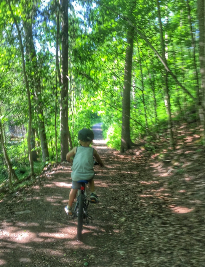 Magnus sykler i terrenget