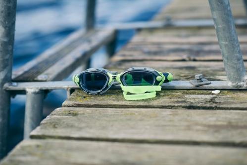 Vi lot svømmebrillene bli igjen på land da Magnus prøvde seg i open water for første gang i dag.