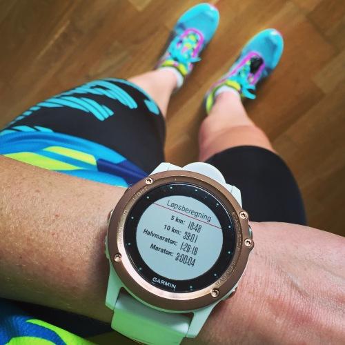 Jeg har satt mange nye løperekorder i år. Terskelfarten suser i riktig retning og jeg storkoser meg på løpetrening. Her med Salming Speed.