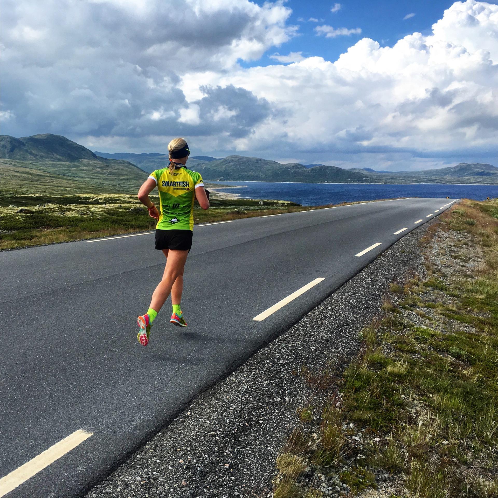 Kari løper Imingfjell